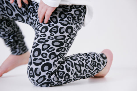 Fred and Noah Grey Leopard Print Leggings