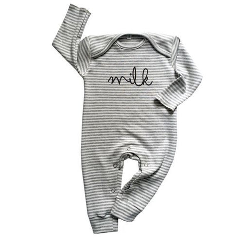 Grey Stripes MILK Play suit