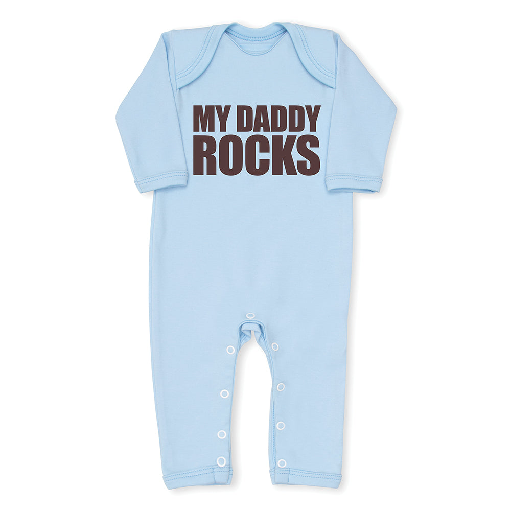 My Daddy Rocks Baby Grow - Blue