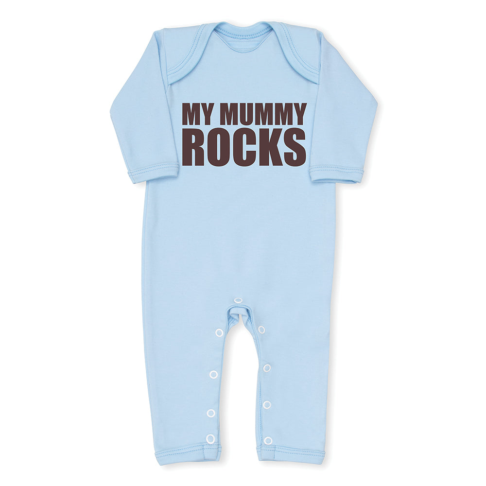 My Mummy Rocks Baby Grow - Blue