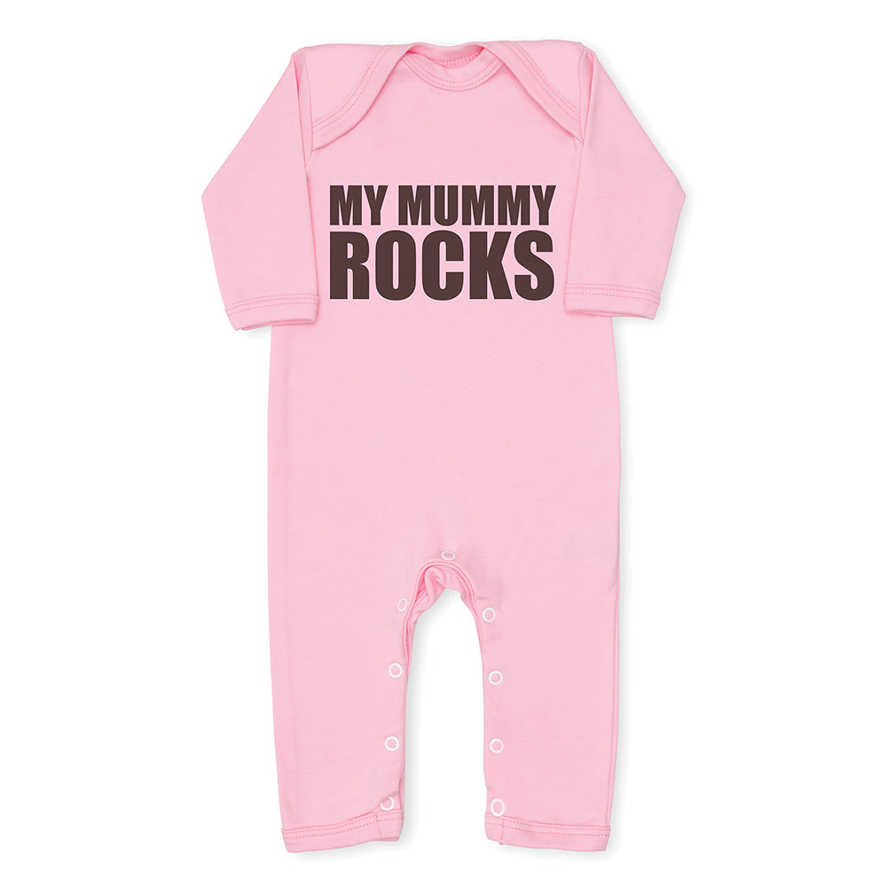 Baby Cotton All in One Babygrow Wording Cute Color Pink 0-3mths