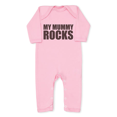 My Mummy Rocks Baby Grow - Pink