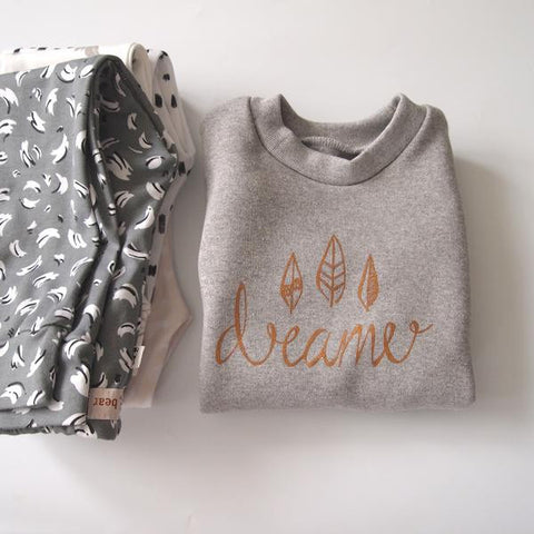 Original Buffalo & Bear grey Dreamer Sweatshirt Close Up My Baby Edit