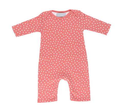 All in One Baby Body - Flamingo Pink & White Stars