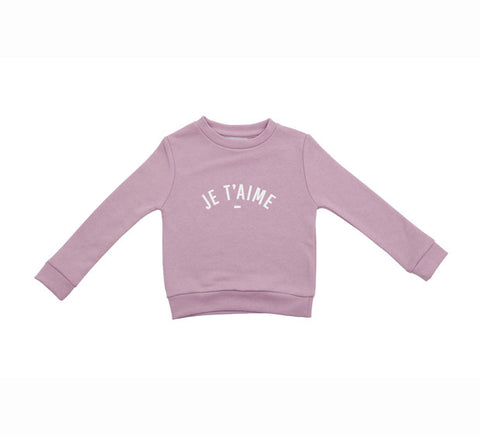 Long Sleeve Sweatshirt - JE TAIME Dusty Violet