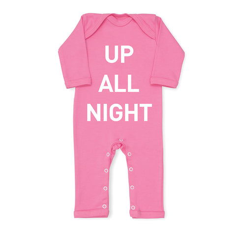 Up All Night Baby Grow - Pink