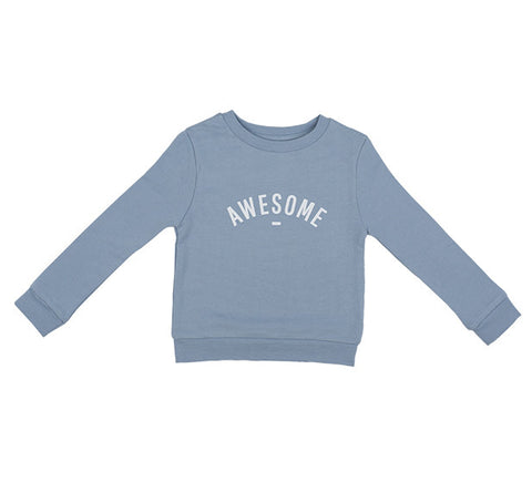 Long Sleeve Sweatshirt - AWESOME Steel Blue