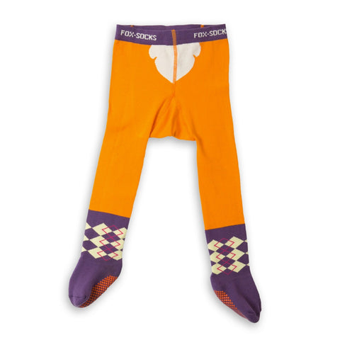 Full Leg Baby Tights ''Fox in socks''