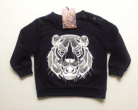 Tiger Sweatshirt - Navy Blue