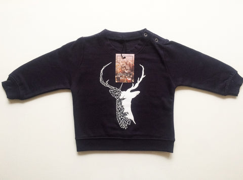 Stag Sweatshirt - Navy Blue