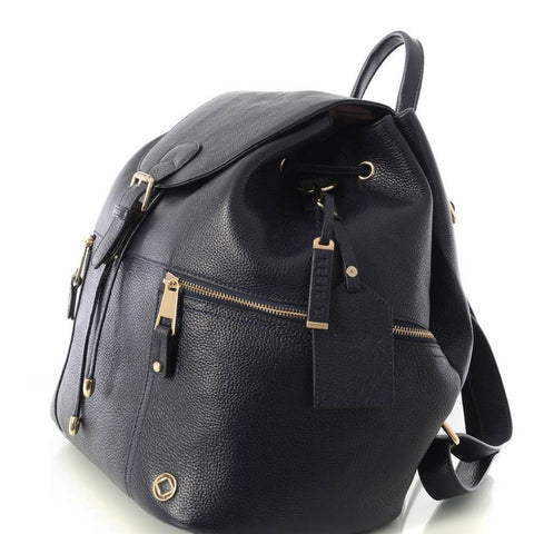 Original Kerikit Real Leather Thor Navy Backpack Side My Baby Edit