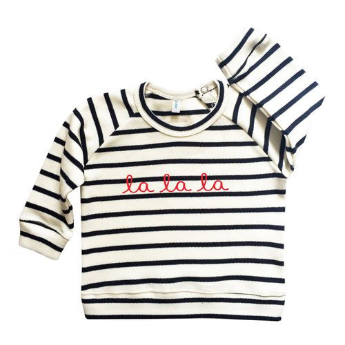 Original Organic Zoo Striped Breton La La La Sweatshirt My Baby Edit