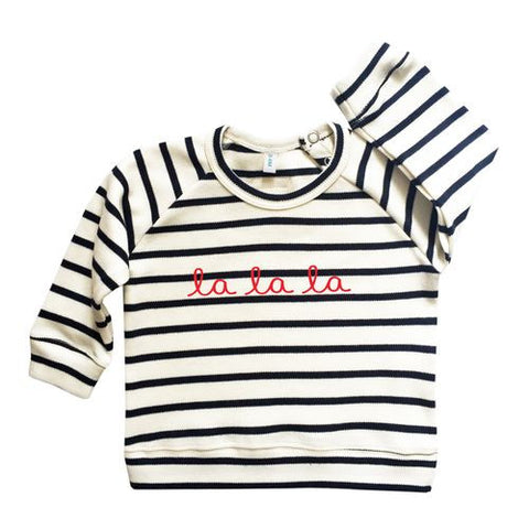 Striped Breton Sweatshirt La La La