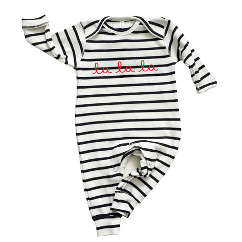 Striped Breton La La La Play suit