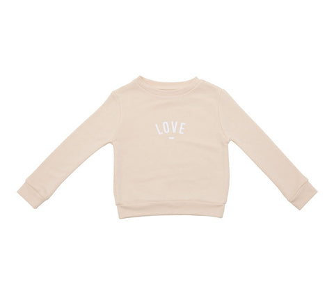 Long Sleeve Sweatshirt - LOVE Buttermilk