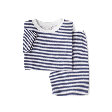 Unisex Pulteney Stripe, Short Sleeve & Shorts PJ set