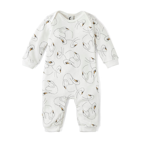 Swansy White Baby Romper