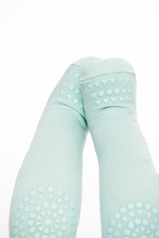 Original GoBabyGo crawling tights Mint Green front MyBabyEdit
