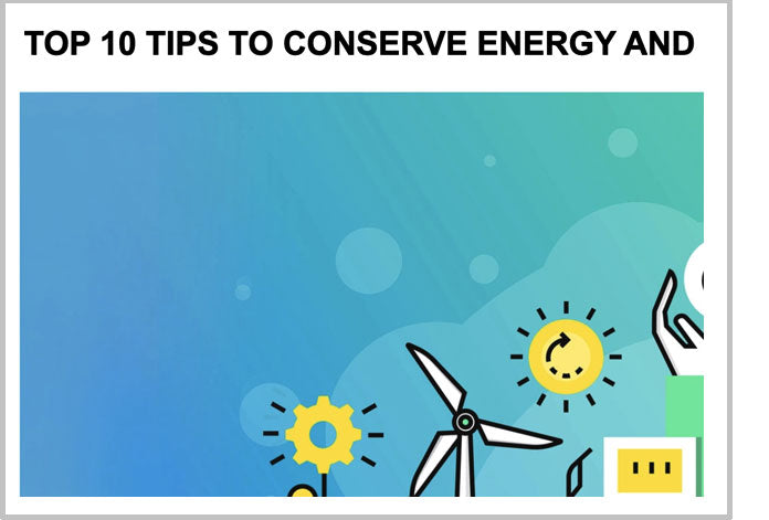 Top 10 tips to conserve energy and reduce energy bills