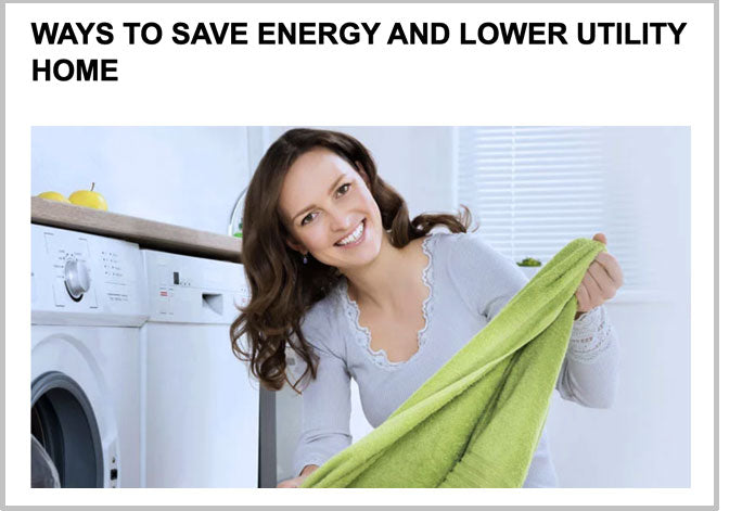 Ways to save energy and lower utility bills in the laundry