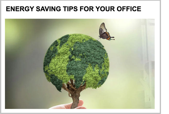 Energy saving tips for your office