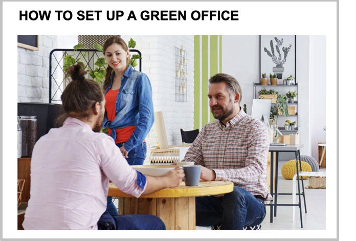 How to set up a green office
