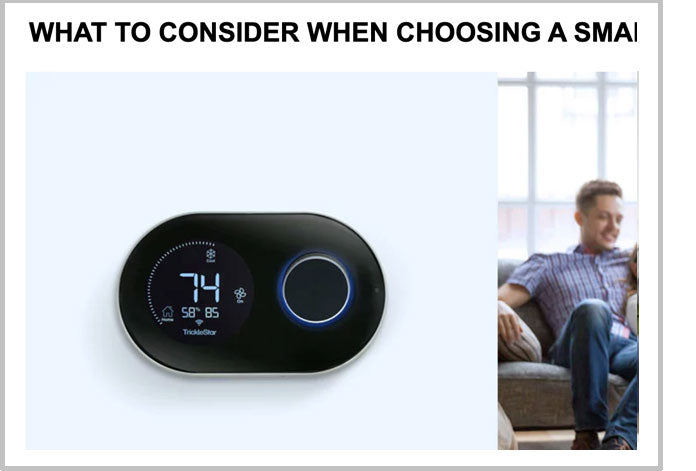 What to consider when choosing a smart thermostat