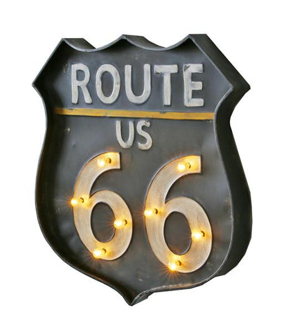 Home of Temptations http://www.hotdesign.co.nz Route 66 LED Bar Sign