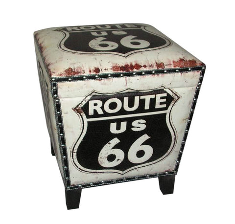 Route 66 Ottoman Home of Temptations HOT Design http://www.hotdesign.co.nz Interior Design Furniture Décor & Gifts