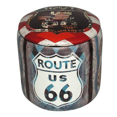 Route 66 Foot Stool