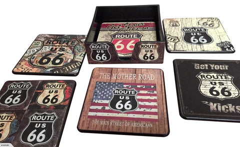 Route 66 Beer Coasters