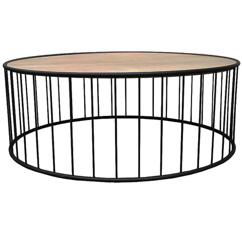 Baker Geometric Iron & Wood Coffee Table