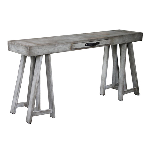 Architectural Manyara French Country Chic Trestle Console Table