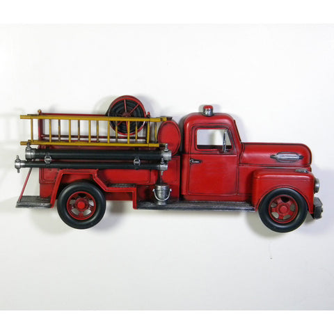 Fire Truck Vintage Styled Wall Hanging Ornament - Perfect Gift!