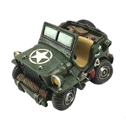 Army Jeep Car Novelty Money Box Ornament
