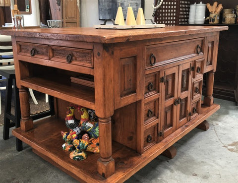 Kitchen Island Made From Solid Wormwood - Master Craftsmanship!