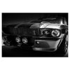 GT500 Ford Mustang Eleanor Art Print On Glass Wall Hanging