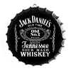 Whiskey Jack Daniels Bottle Cap Shaped Wall Art Sign