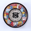 Route 66 License Plates Metal Wall Clock Rustic Chic - Perfect Gift!