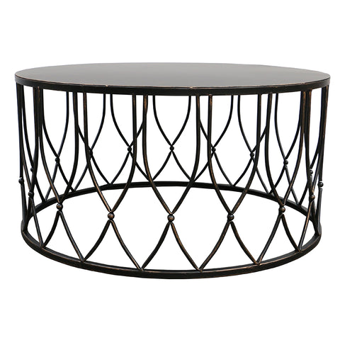 Chang Artistic Geometric Metal Coffee Table