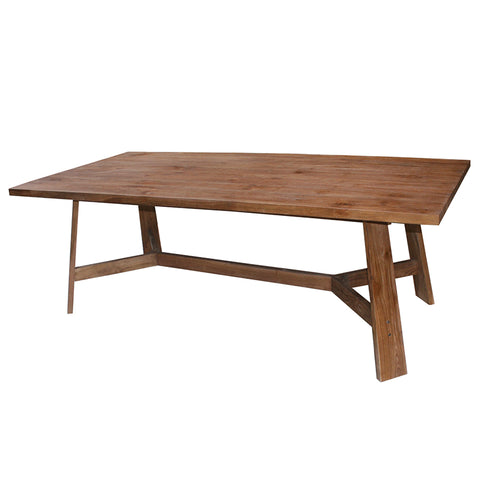 Maxwell Teak Wood Geometric Chic Dining Table