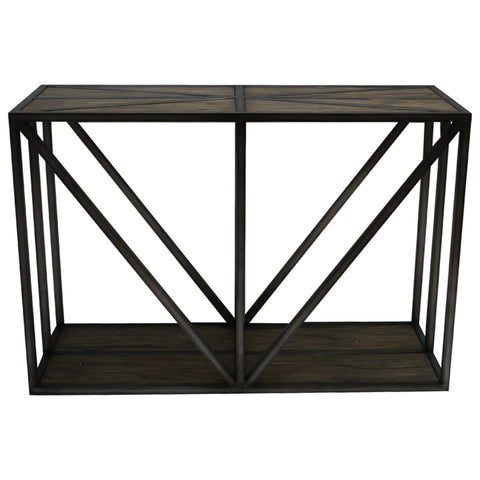 Chic Modern Tennessee Wood & Iron Console Table
