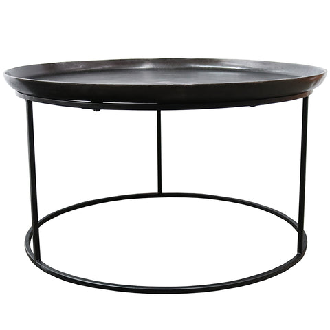 Calypso Black Iron Aluminium Modern Coffee Table