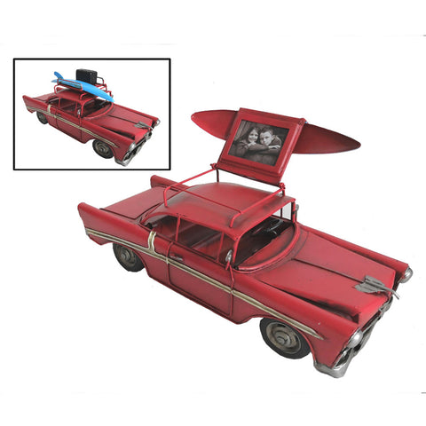 Red Chevy Vintage Styled Car Ornament With Photo Frame - Perfect Gift!