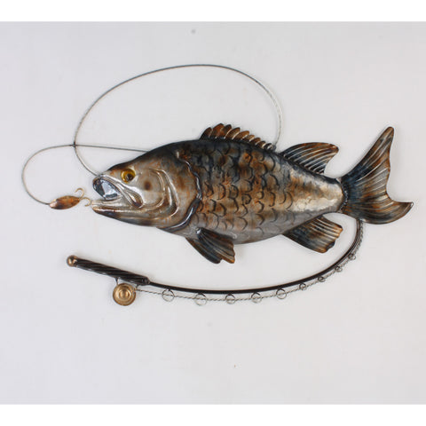 Fish & Fishing Rod Wall Art Metal Wall Hanging - Home of Temptations Interior Design Furniture Decor & Gifts http://www.hotdesign.co.nz