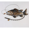 Fish & Fishing Rod Wall Art Metal Wall Hanging
