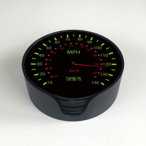 Car Speedo Coasters With Storage Holder