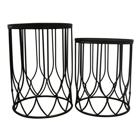 Chang Artistic Geometric Metal Side Table Set - Home of Temptations Interior Design Furniture Decor & Gifts http://www.hotdesign.co.nz