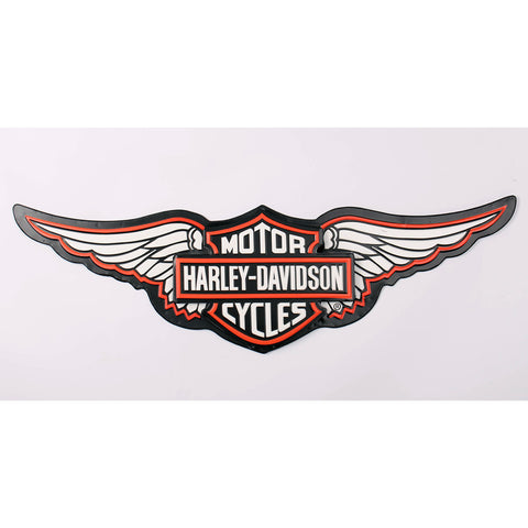 Harley Davidson Wings Nostalgia Logo Motorbike Lovers Wall Art Sign - Home of Temptations Interior Design Furniture Decor & Gifts http://www.hotdesign.co.nz