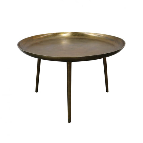 Antique Brass Bronx Tripod Coffee Table